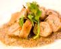 トリュフ風味!「イベリコ豚バラ香草ロール焼き」