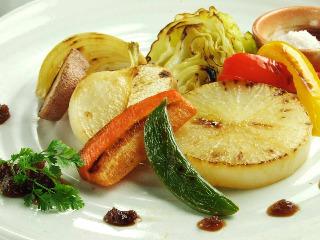 【大人気!】有機野菜のステーキ オーガニックオイルでソテー