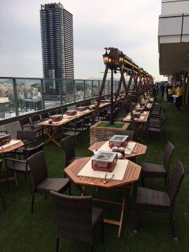 芝生BBQ ホテルグランヴィア 広島 22F ビアガーデン