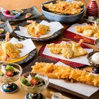 お蕎麦と天ぷらを楽しむご宴会コース全6品・4,000円(税抜)