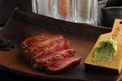 黒毛和牛A5サーロインステーキ 最高品質のお肉で豪華なランチ♪