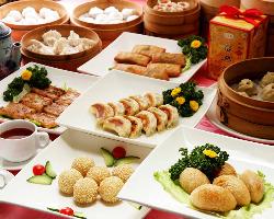 本格香港点心。大人気!食べ放題もご用意しております。
