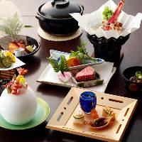 季節の旬食材をふんだんに盛り込んだ料理長自慢の月替わりコース