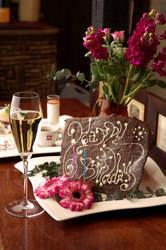 Happy Birthday!お花と飴細工・ケーキも付いた特製プレート
