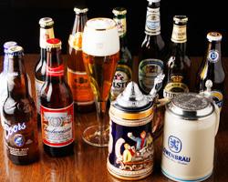 ドイツビールを蓋付きで味わえるのはここだけ!