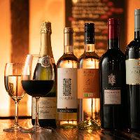 ワインセラーにはシェフが厳選するワインを常備しております
