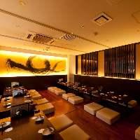 優雅な個室【30~36名様】大人数宴会に大好評の個室!