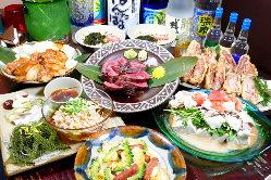 一押し沖縄料理が楽しめる お得なコースをご用意!