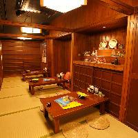 沖縄の雰囲気◎ 気軽に使える個室を完備!