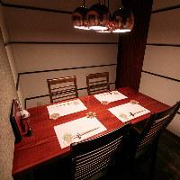 店内には個室も完備。上質な空間でごゆっくりとお過ごしください