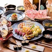 各種ご宴会などにご利用下さい。コース料理 ずし皿鉢大皿コース