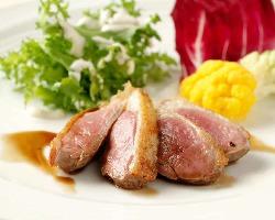 欧州産鴨フィレ肉のロースト