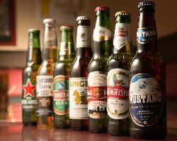 [世界のビール] アジアの珍しいビールも揃う!常時10種類程ご用意!