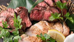 イチオシ燻し肉3種盛り!牛カイノミとザブトン、イベリコ豚!
