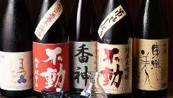 千葉県の銘酒『不動』や『香神』のほか全国の地酒を揃えています