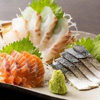 300円~のお刺身!鮮度抜群のお魚を大サービスで提供!