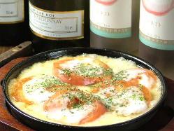 トロトロチーズのトマトチーズ焼!ほんのり酸味とフレンチソース
