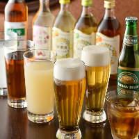 スッキリとした味わいで飲みやすい台湾ビールも各種取り揃え