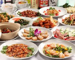 2時間飲み放題付!気軽な中華料理や高級食材が揃う宴会コース