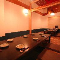 4〜16名様用掘りごたつ個室は接待から会社宴会などに最適です
