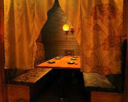 琉球ガラスの光る個室 4~10名・20名個室も有