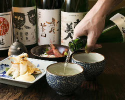 [オーナー厳選の酒] 舌で選んだ地酒や本格焼酎、ワインもご用意
