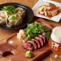 前菜からメインのお肉料理までクラフトビールと一緒にどうぞ
