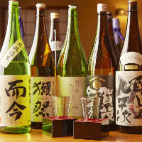 お刺身や魚料理に合う限定地酒も各種取り揃えております