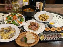 ご宴会にピッタリの飲み放題付き宴会コースは4200円~