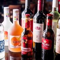 スペイン産のドリンクも多数!ソムリエ厳選ワインもお試しあれ