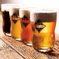 飲み放題でもクラフトビールが4種類愉しめる♪