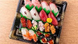【本格寿司】 旨い魚を知り尽くした魚屋直営の寿司直売店