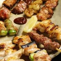 絶品の炭火焼鳥と串焼きと自慢の一品料理をご堪能ください!!