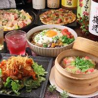 各種宴会に最適な宴会コースは全8品・2時間飲み放題付3800円です