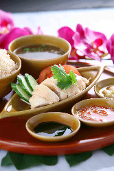 ◆シンガポールチキンライス!!まずはこれから食べるべし!!