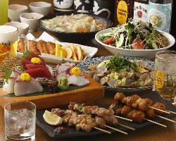串焼きや逸品を楽しむならコースがおトク!4,000円(税込)〜