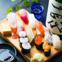 回転しない本格お寿司をリーズナブルに楽しめます!!