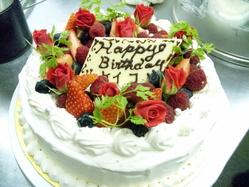 誕生日や記念日に手作りケーキはいかかですか。要予約です。