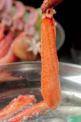 ☆大人気!かにしゃぶしゃぶ☆お刺身でも食べれる鮮度の良さ!!