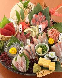 【一番刺盛り】 佐島港より直送の獲れたて鮮魚盛り合わせ!