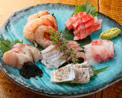 【豪華鮮魚の3点盛】絶対お得な盛り合わせ!