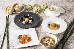 季節の食材をふんだんに使用した旬のコースを各種ご用意。