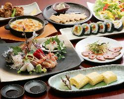 国産豚・国産牛の夏野菜すきやきコース!4000~