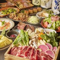 飲み放付!鍋&焼き料理が選べるコース料理は3,480円(税別)〜