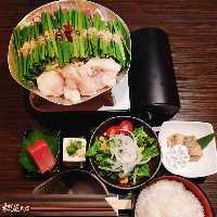 お一人様~OK♪博多もつ鍋定食を1500円でご用意しております♪