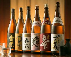 【多彩な和酒】 東北の地酒や本格焼酎など豊富なお酒をご用意