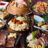 仙台厚切り牛タンコースは、牛タン炭火焼きがメインの大皿コース