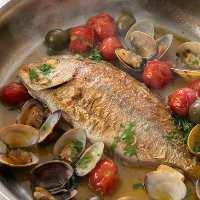 小田原直送の鮮魚を使用したアクアパッツァは魚介の旨味が◎