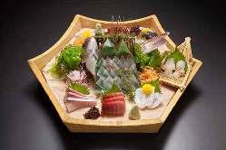 豊洲市場仲卸のプロが厳選した鮮度抜群の魚介類をご堪能下さい