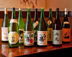 【こだわりの日本酒】 厳選した純米酒をお楽しみ下さい